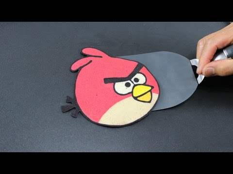 Pancake Art - Angry Birds (Red) by Tiger Tomato
