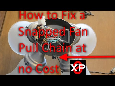 Fix a Snapped Fan Pull Chain at No Cost, How to