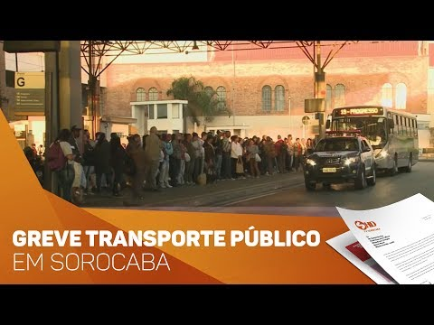 Greve no transporte público de Sorocaba - TV SOROCABA/SBT