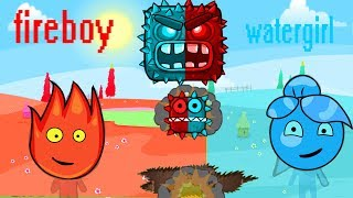 RED BALL 4: Fireboy vs Watergirl ball Complete game Adventure