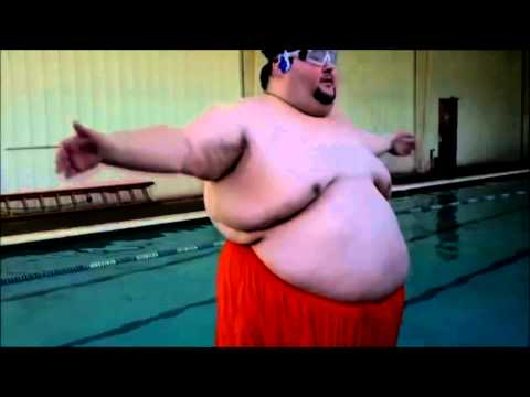 Tsunami Fat Guy Funny Video
