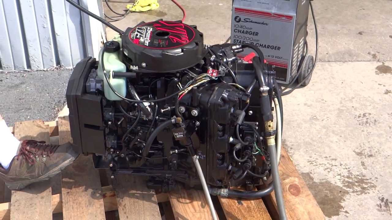 Mercury Sport Jet 175hp Engine Test  Good Compression