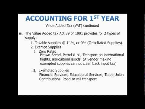Accounting for 1st year Varsity: Value added Tax