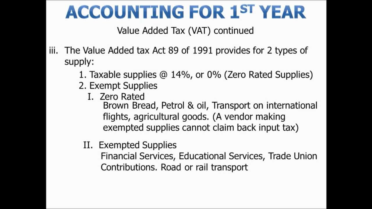 types of value added tax
