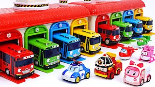 Tayo garage is on fire! Poli and Super Wings Go Go Go~! | PinkyPopTOY