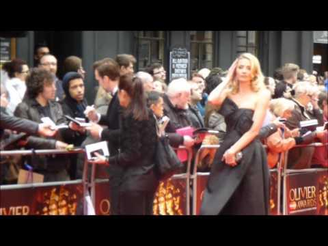 Rafe Spall & Elize du Toit Olivier Awards 2013