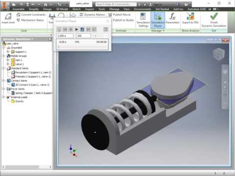 Tutorial Video for Coupling Autodesk Inventor to OptiY
