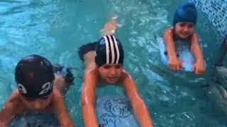 """Занятие по плаванию в детском саде """"Сафинат"""""""