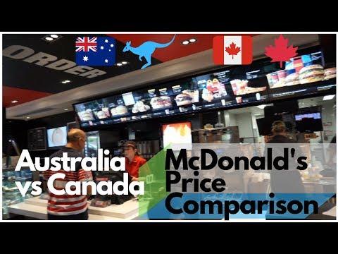 McDonald's Australia Vs Canada: Price Comparison |  Australia Travel Vlog | 26N11D18