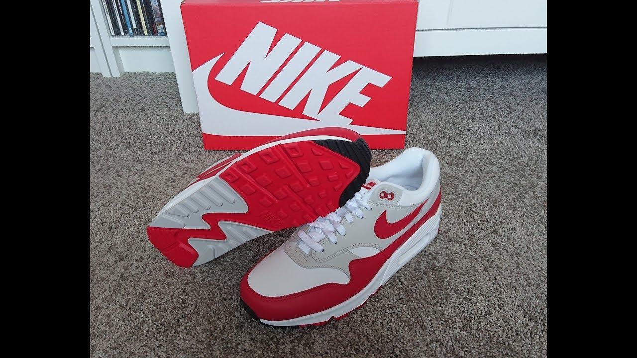 95a470b72 Unboxing Unpacking Nike Air Max 90 1 hybrid code AJ7695 100 white / university  red
