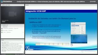Webinar - Configuración avanzada UCM61XX