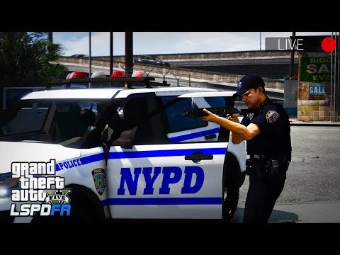 GTA 5 LSPDFR LIVE - Day 54 | New York Police Department (NYPD) | Dualift's Ped Pack BETA!