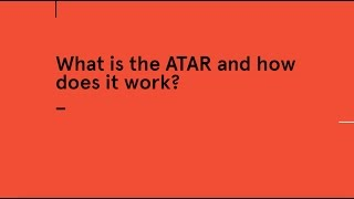 How is the ATAR calculated? thumbnail