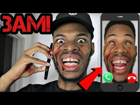 DO NOT CALL YOURSELF AT 3AM I ANSWERED (EVIL POSSESSED) I CAME TO MY OWN HOUSE OMG!!! (CREEPY)