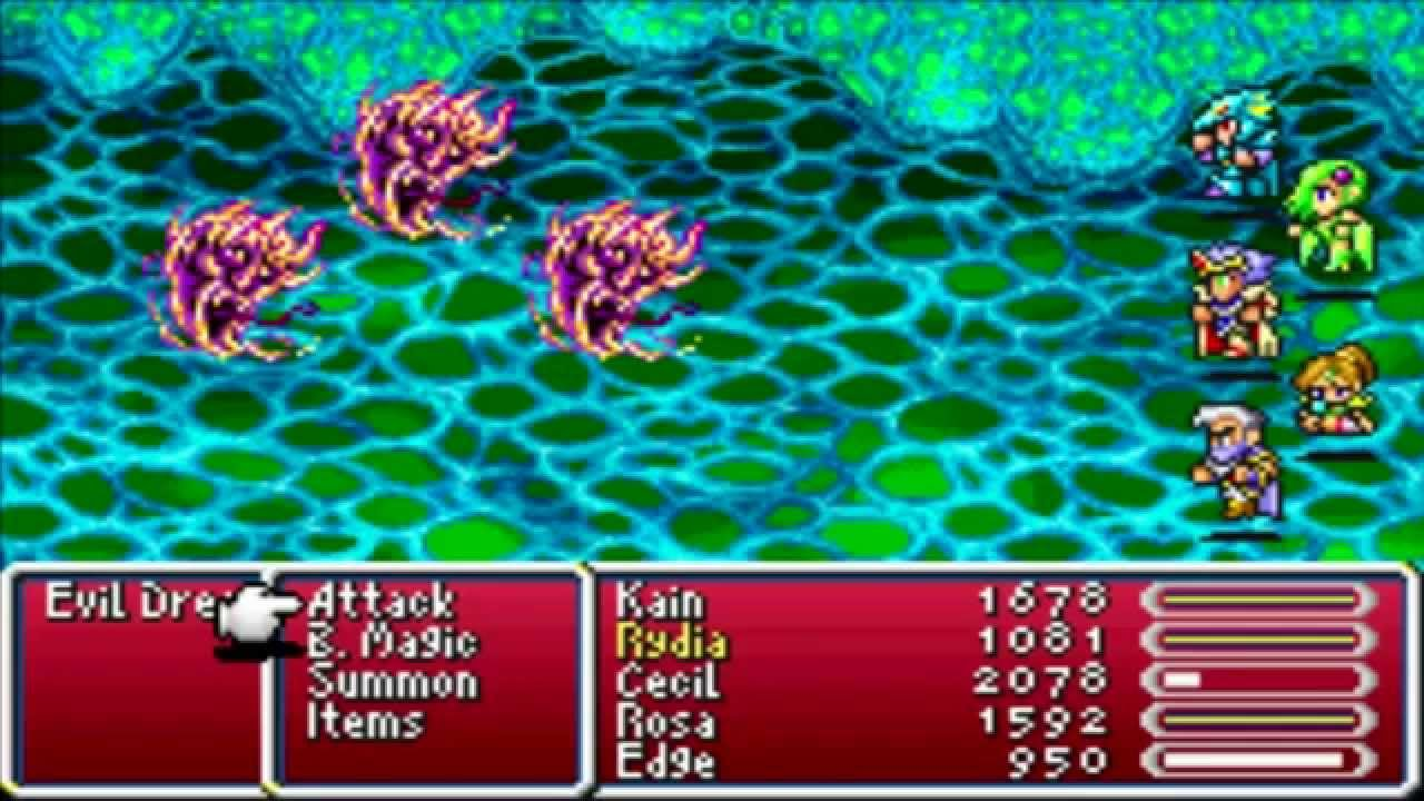 Final Fantasy 4 Advance (GBA) Part 25 The Sylvan Cave Part 1 - YouTube