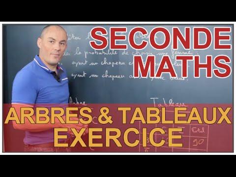 Arbres Et Tableaux Exercice Probabilites Maths Seconde Les Bons Profs Youtube