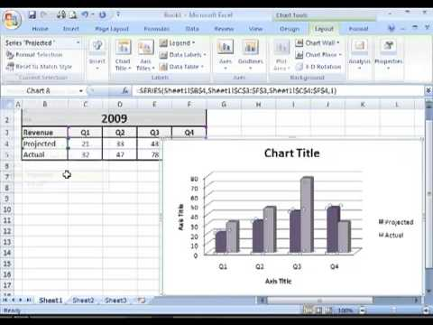 How To Change The Layout Or Style Of A Chart In Ms Excel Youtube
