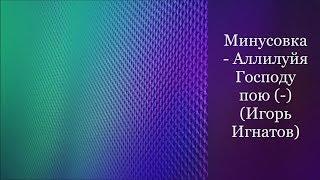 Минусовка - Аллилуйя Господу пою (-) (Игорь Игнатов)