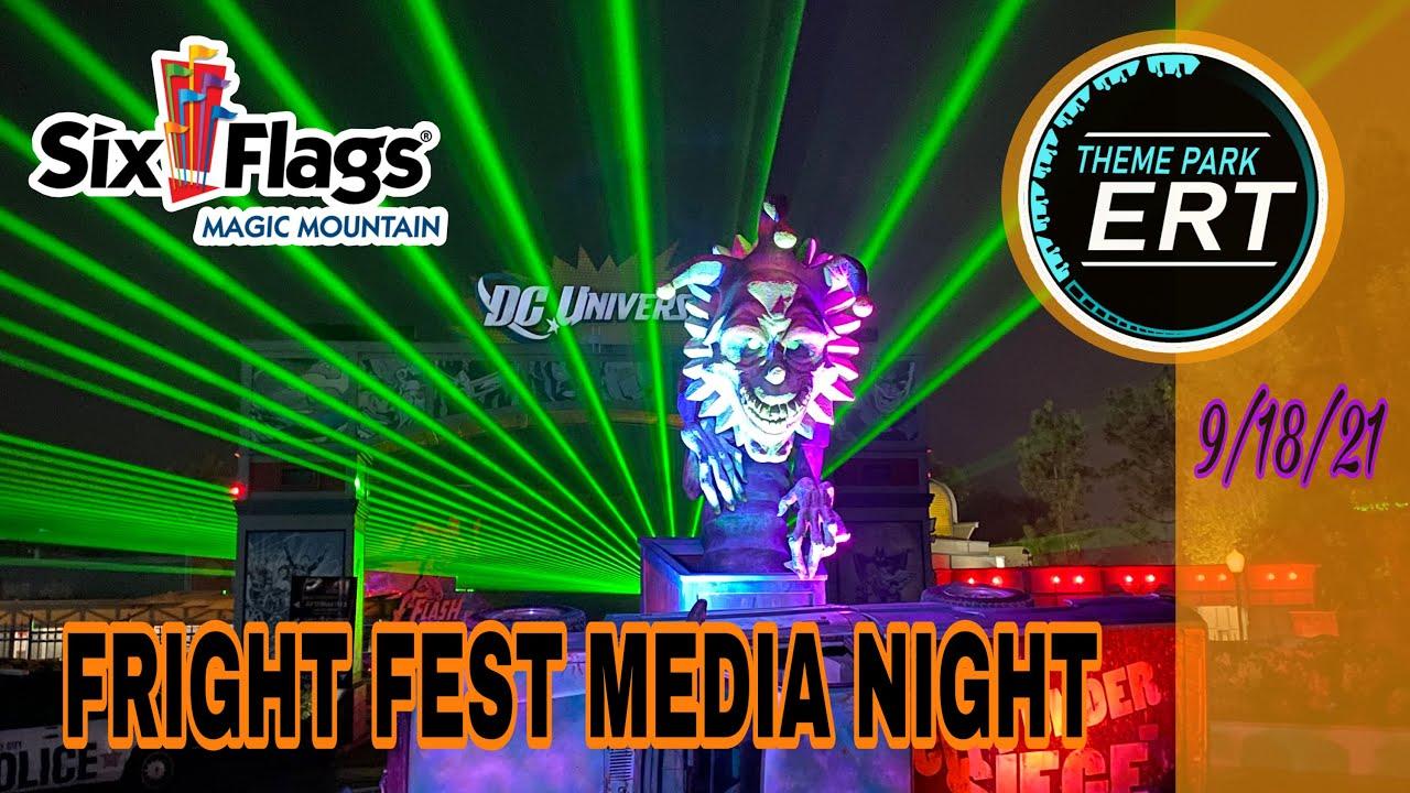 SIX FLAGS MAGIC MOUNTAIN FRIGHT FEST MEDIA NIGHT | MONSTER & MAZE WALKTHROUGH [NEW MAZE ADDITIONS!!] | Full Video