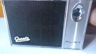 """Test für Ebay : Graetz """" Flirt """" 40F Transistorradio , Bj. 1965-67"""
