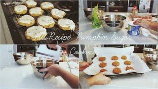 Fall Recipe: Pumpkin Sugar Cookies with Cinnamon Vanilla Frosting Thumbnail