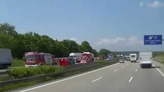 11 06 2013 A2 richtung Berlin  Schwerer LKW unfall