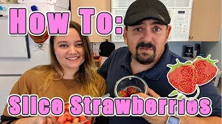 How to Clean and Slice Strawberries for Fruit Salad