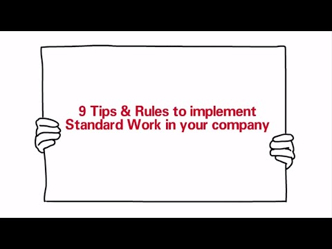 Standard Work - 9 Tips to Implement