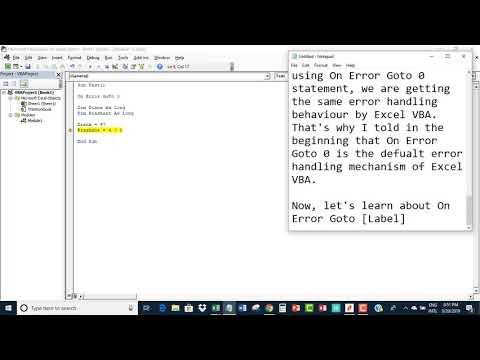 Excel Vba On Error Goto 0 Vs On Error Goto Label Youtube