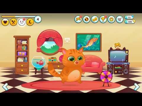 Котенок БУБУ Кто ЭТО сделал? Мой виртуальный котик Bubbu My Virtual Pet Мультик игра для детей