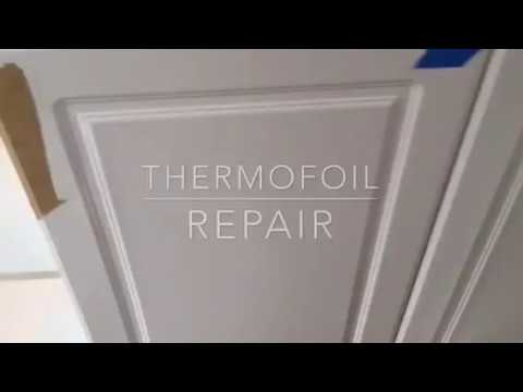 thermofoil cabinet door repair youtube rh youtube com Laminate Cabinets Laminate Cabinets