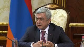 Հայաստանի բնակչությունը 4 միլիոնի պետք է հասնի  այլ ճանապարհ չկա Սերժ Սարգսյան