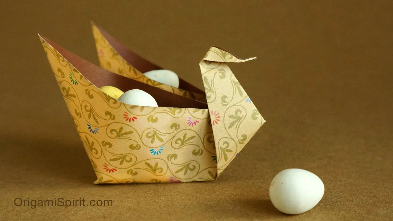Easy Origami Swan Container for Festive Occasions! - YouTube - photo#49