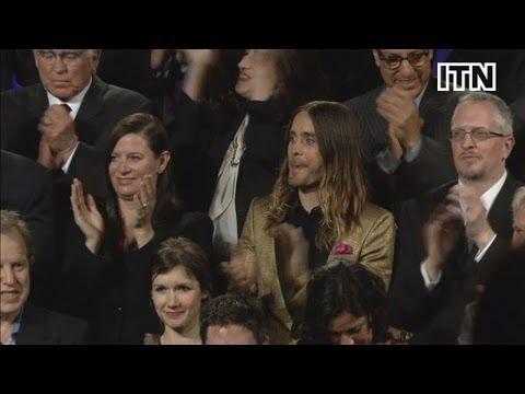 Pharrell's hat dominates traditional Oscar...