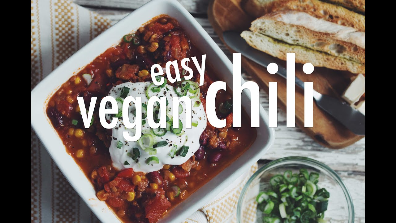 Easy vegan chili hot for food youtube forumfinder Choice Image