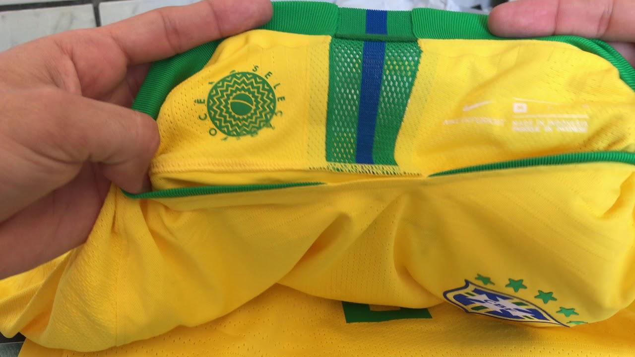 57ec3afc5c Unboxing Camisa Nike seleção Brasileira 2018 Jogador Vaporknit - YouTube