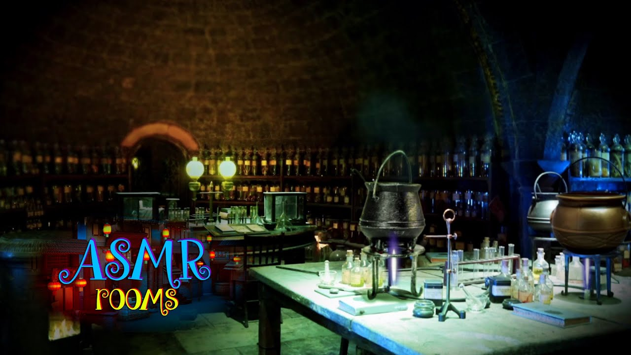 Harry Potter ASMR - Snape's potion classroom - Ambient Sound White Noise - potion boiling - HD