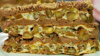 Cel mai rapid si delicios tort cu nuca, fara gram de faina! Tort Imparatesc. SavurosTV