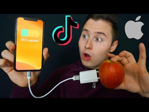 iPhone mit Apfel LADEN? Ich teste VIRALE TikTok Life Hacks! ZUM NACHMACHEN😍 (Teil 2)