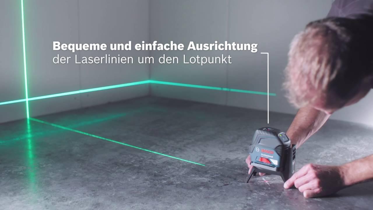 bosch kombilaser gcl 2 15 g professional youtube. Black Bedroom Furniture Sets. Home Design Ideas