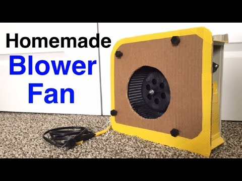 Homemade Centrifugal Blower Fan