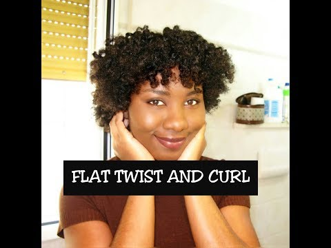 FLAT TWIST AND CURL ON NATURAL HAIR | HAPPYSCURLS