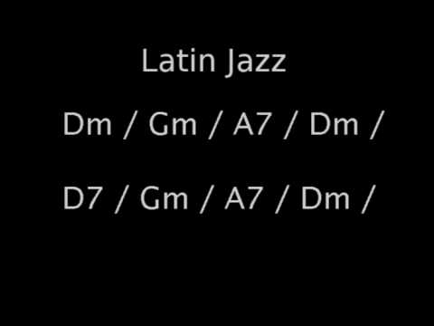 Latin Jazz Backing Track in Dm - Bass & drums only