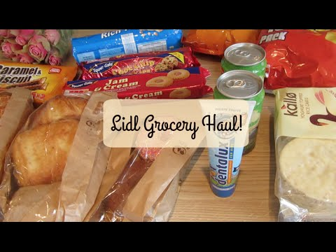 LIDL GROCERY HAUL 1ST AUGUST
