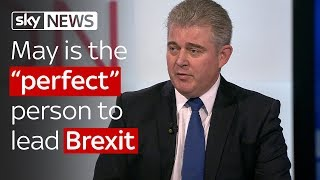"Brandon Lewis: May is the ""perfect"" person to lead Brexit talks"