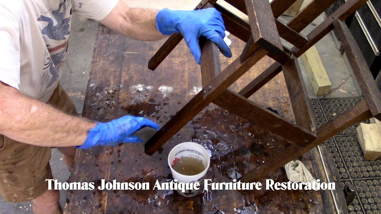 Restoring a Child's Mission Chair - Thomas Johnson Antique Furniture Restoration