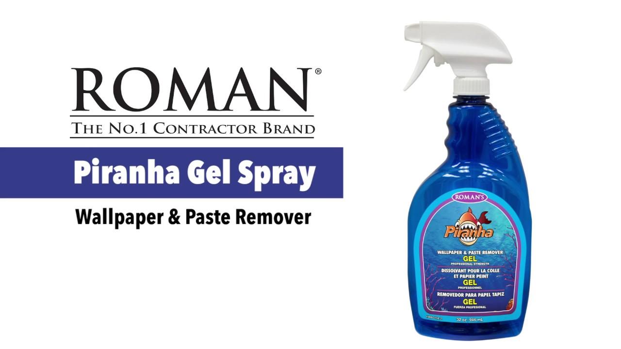 Piranha Wallpaper Remover Gel Spray Youtube