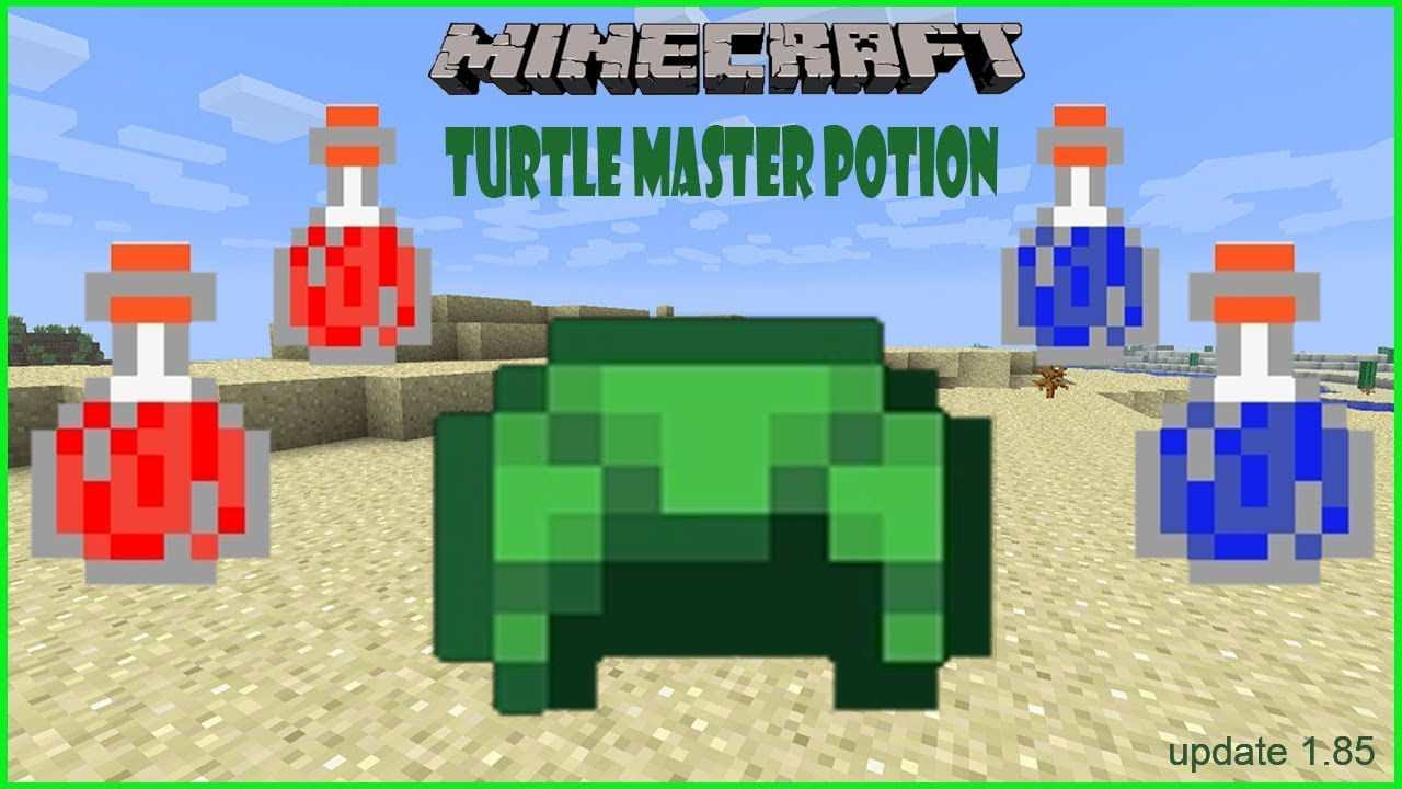 How to make a Turtle Master Potion in Minecraft : After update 1 85