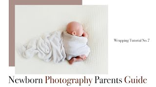 Newborn photography wrapping tutorial No.7