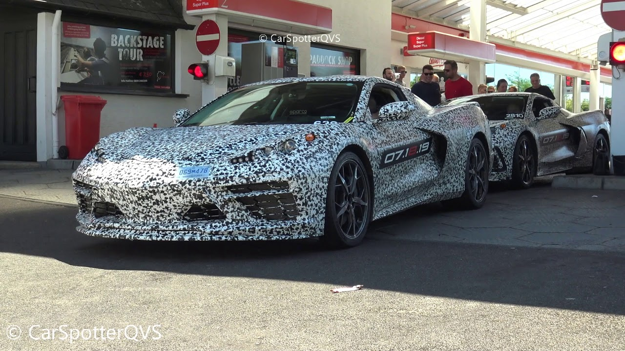 2020 corvette c8 spied testing at the nurburgring interior details and exhaust sound